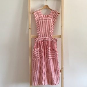Vintage Linen Candy Striper Dress